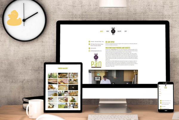 Pan Eatery and Public House Web Design 2015