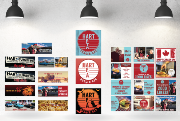 Hart A&A Burger Bar Social Media Graphics