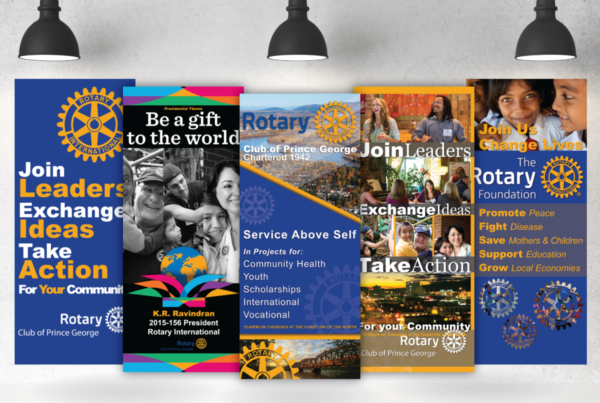 Prince George Rotary Club Pull-Up Banners