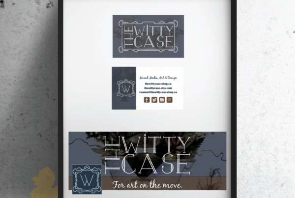 The Witty Case Business Card and Facebook Graphics