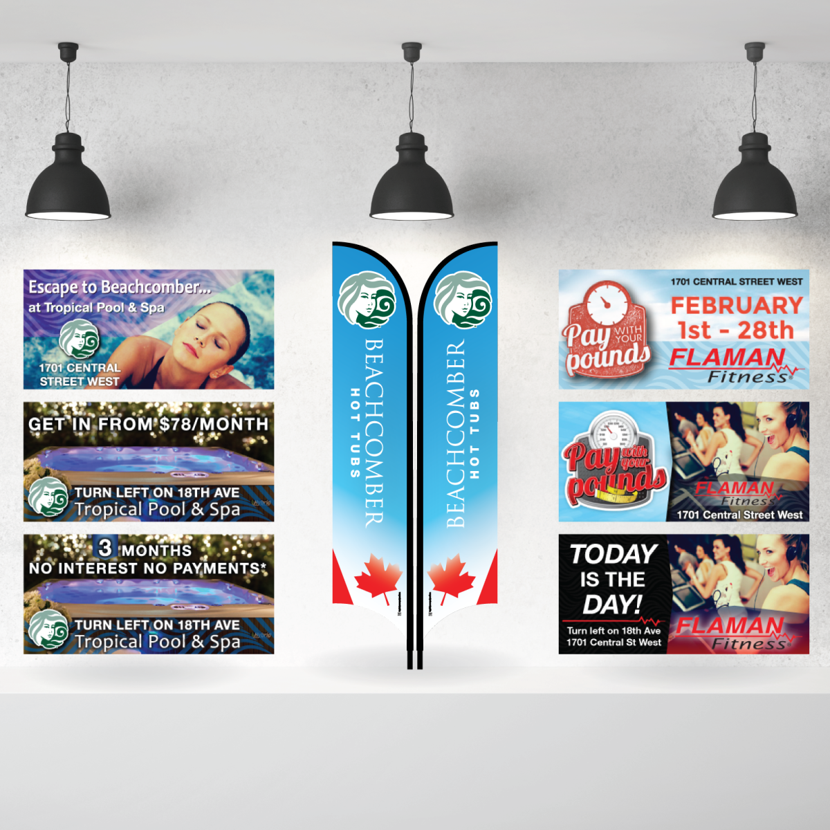 Tropical Pool and Spa Digital Billboard Ads and Banner