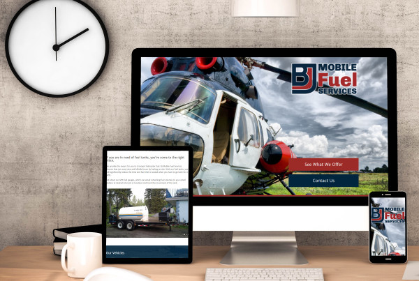 BJ Mobile Fuel Services Website Design 2015